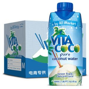 唯他可可(VitaCoco)天然椰子水进口NFC果汁饮料500ml*6瓶整箱*2件 138元(合69元/件)