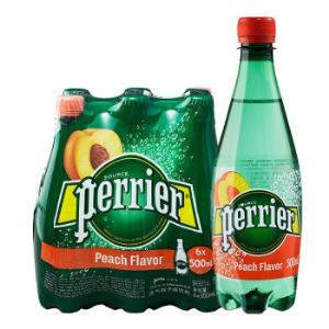 法国原装进口巴黎水(Perrier)气泡矿泉水桃子味含气天然矿泉水500ml*6瓶(塑料瓶)整箱*5件 161.75元(需用券,合32.35元/件)