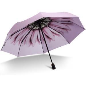 JUSTMODE彩胶三折晴雨伞粉色*3件 207.9元(合69.3元/件)