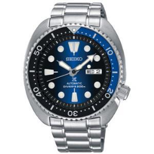 SEIKO精工PROSPEX系列SRPC25J1男士手动上链机械表深海蓝潜水可用水鬼精钢表带1836元