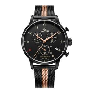 摩纹Marvin瑞士男士手表前程系列黑盘网带魅力男士石英手表M035.23.43.252256元