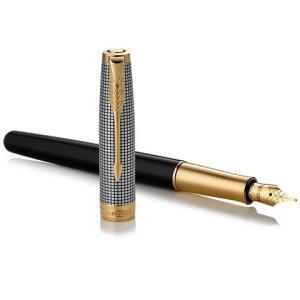 PARKER派克SONNET卓尔光影格纹金夹钢笔18K金M尖 810.23元