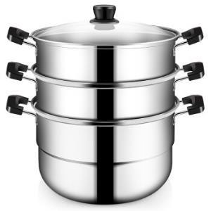 COOKERKING炊大皇WG16331不锈钢蒸锅三层28cm    99元