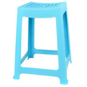 茶花塑料凳子椅子条纹46.6cm高方凳子蓝色A0838P*4件99.6元(合24.9元/件)