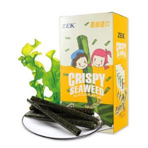 泰国进口(ZEK)休闲零食烤海苔卷脆紫菜卷海鲜味27g/盒*2件12.8元(合6.4元/件)