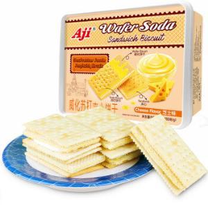 Aji饼干蛋糕零食早餐饼干威化苏打夹心饼干芝士味480g/盒*7件 126.98元(合18.14元/件)
