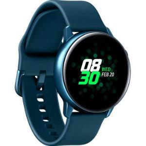 三星(SAMSUNG)智能手表SamsungGalaxyWatchActive心率报警游泳运动自动追踪无线充电共享黛青 1399元