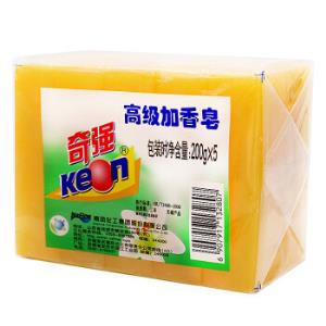 奇强高级加香老肥皂手洗强力去污洗衣皂透明皂200g*5块*13件    114.69元(需用券,合8.82元/件)