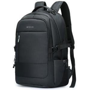 稻草人MEXICAN双肩包男15.6英寸大容量笔记本电脑包多功能旅行背包书包50470黑色*2件 158元(合79元/件)