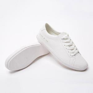 美特斯邦威休闲鞋男款春夏新款简洁小白鞋低帮系带纯色