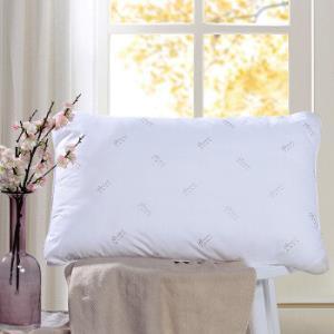 富安娜出品馨而乐枕头单人七孔纤维软枕芯成人颈椎枕头芯防螨面料一个装74*48cm 49元