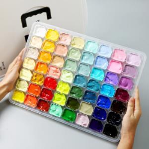 博格利诺BOGELINUO果冻水粉颜料套装56色美术艺考联考学生便捷绘画颜料套装58.3元