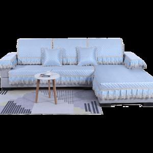 俏佳佳欧式冰丝御藤席夏天沙发垫现代简约凉席垫夏季防滑坐垫套罩15元