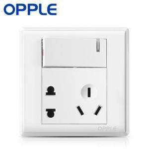 OPPLE欧普照明灵犀86型一开单控单开五孔插座 6.8元包邮