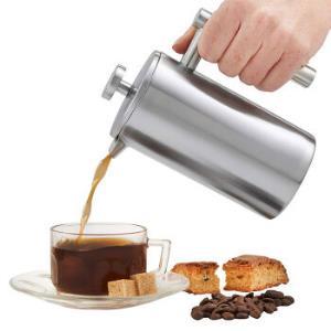 焙印骑士法压壶304不锈钢咖啡壶手冲家用双层保温冲茶器泡茶器法式咖啡滤压壶免滤纸便携350ml-2人份*2件 188元(合94元/件)