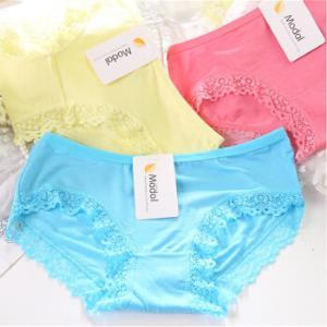 女士内裤纯色蕾丝边舒适女式内裤学生1条颜色随机均码9.90