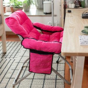 电脑椅家用现代简约懒人椅大学生宿舍椅子卧室舒适久坐靠背沙发椅紫色115元包邮