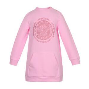 YOUNGVERSACE范思哲奢侈品童装女童粉色棉纤美杜莎人头像长袖连衣裙YVGAB167YFE04Y453336M/3岁/100cm 1095元