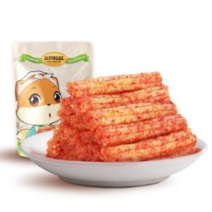 三只松鼠香辣味辣条大刀肉大面筋休闲零食儿时怀旧即食特产小吃180g*16件 86.4元(合5.4元/件)