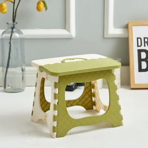 加厚塑料折叠凳便携折叠椅子火车小凳子成人家用马扎迷你小板凳钓鱼凳绿白-小款9.9元