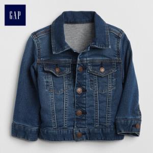 GAP旗舰店婴儿针织内里牛仔夹克宝宝外套男婴女婴秋装新款靛蓝色80cm(12-18月)32.7元