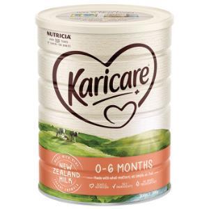 新西兰进口可瑞康Karicare婴儿配方牛奶粉1段(0-6个月)900g/罐127.5元