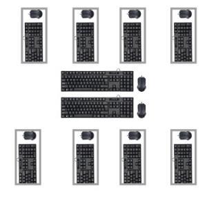 现代(HYUNDAI)HY-MA75有线USB接口键盘鼠标套装黑色十套装249元