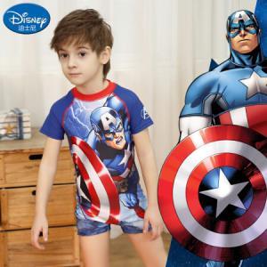 迪士尼(DISNEY)SWF10004A迪士尼/DISNEY美国队长儿童泳衣男童连体冲浪服120 73元