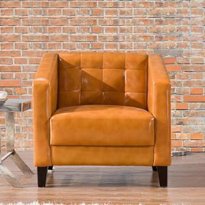 卡奈登(CONEDUN)现代简约办公室商务接待会客时尚沙发单人位XY3620黄色 799元