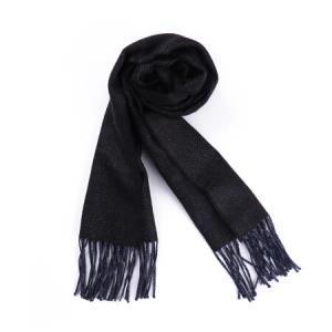 CANALI康纳利男士黑蓝色羊毛长形围巾06MF00076300570元