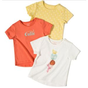 maxwin 马威 女小童短袖T恤 3件装 (需用券) ¥68