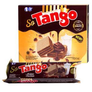 印尼进口Tango威化饼干休闲零食比利时巧克力味威化饼干114g/盒*6件 51.4元(合8.57元/件)