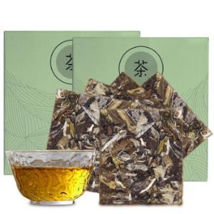 熙溪福鼎白茶2013年饼干白牡丹老白茶茶叶2盒50g(共10片) 29元包邮