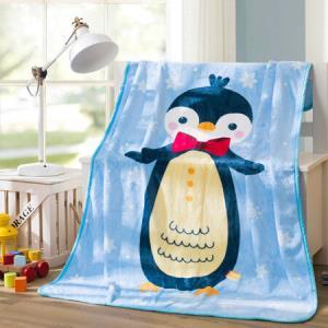 LOVO家纺罗莱生活出品毯子空调毯法兰绒萌宝小企鹅萌宝小企鹅100*140cm39元