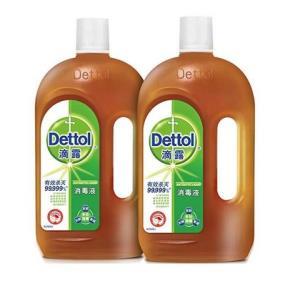 滴露消毒液1.15L*2家居杀菌衣物清洁家用宠物除菌液消毒水玩具洗衣机用杀灭螨虫、除螨79.9元