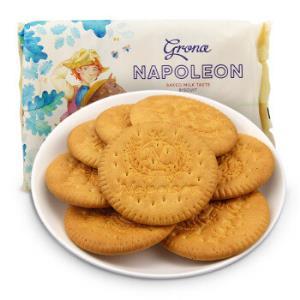 乌克兰进口格兰娜Grona牧童图案牛奶味饼干休闲零食办公室点心290g/袋*16件 104.8元(合6.55元/件)