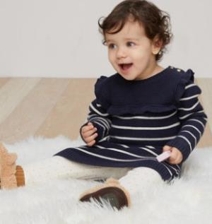 Gap 婴儿女宝宝全棉针织连衣裙¥48.3
