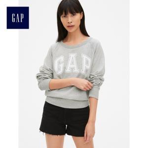 Gap443061女装宽松圆领套头卫衣logo上衣女士运动衫*3件333.9元(合111.3元/件)