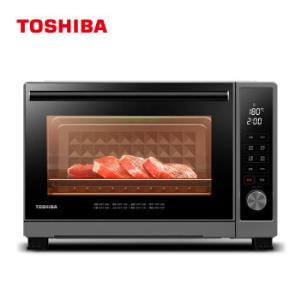 东芝D3-32C1电烤箱32升专业烘焙烤箱带旋转烤叉上下独立控温厨房全自动烘焙智能烤箱*2件    1158元(合579元/件)