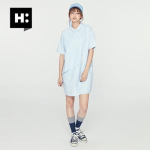 H:CONNECT 30172-121-705-52 翻领短袖连衣裙 98元