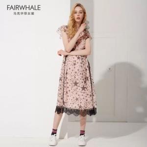 马克华菲女装2019夏季新款时尚休连衣裙时尚两件套套装*2件+凑单品 210元(需用券,合105元/件)