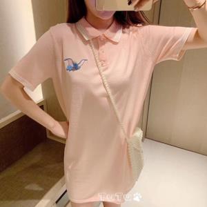 小飞象刺绣冰丝针织连衣裙 ¥40