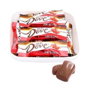 德芙(Dove)丝滑牛奶巧克力4.5g零食喜糖节日糖果礼品500g*4件 138.6元(合34.65元/件)