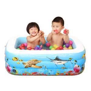 ako-babymat艾高折叠充气加厚儿童游泳池送脚泵、海洋球 18元(需用券)