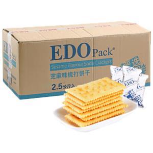 EDOpack早餐饼干酵母苏打饼干芝麻味2.5kg/整箱装 39.8元