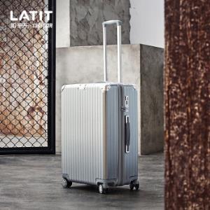LATITPC静音万向轮防刮耐磨拉杆箱-24英寸银色 219元