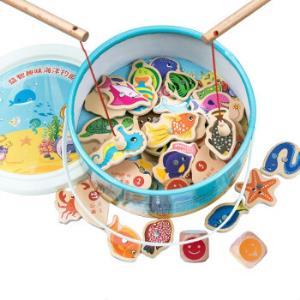 Mtsori蒙氏儿童钓鱼游戏玩具(28条鱼+2鱼竿+鱼桶)    19元包邮(需用券)