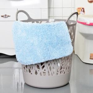 亿美家品(emc)浴室收纳篮镂空脏衣篮塑料手提收纳筐大号灰色YM-3785*4件39.72元(合9.93元/件)