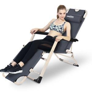 凯速折叠椅折叠床户外休闲躺椅陪护床午睡午休单人床坐躺两用178版折叠躺椅FC57灰色129元