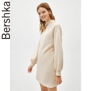 Bershka女士连衣裙式运动衫纯色时尚长款单衣外套0034003380699元